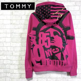 トミー(TOMMY)の☆美品☆ TOMMY トミー 自由の女神 ビッグプリント パーカー フーディ(パーカー)