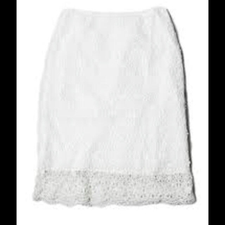 アクアガール(aquagirl)の定価17050円 二回着用 aquagirl レースアップ タイトスカート(ひざ丈スカート)
