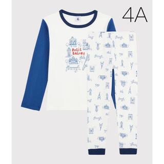 プチバトー(PETIT BATEAU)の新品未使用  プチバトー  長袖  パジャマ  4ans(パジャマ)