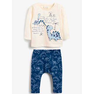 NEXT - ブルー - 恐竜 Tシャツ & レギンス 2 ピースセット (0 か月~3 歳)