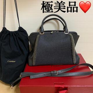 カルティエ(Cartier)の極美品♡正規CartierショルダーバッグCドゥカルティエSMカーフ ウール (ショルダーバッグ)