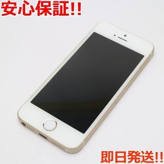 アイフォーン(iPhone)の美品 SIMフリー iPhoneSE 64GB ゴールド (スマートフォン本体)