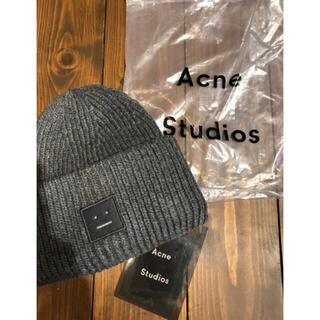 アクネ(ACNE)の新品タグ付きacne studiosアクネスタジオニット帽ビーニー(ニット帽/ビーニー)