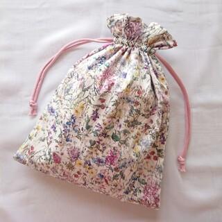 フリル巾着❁︎大きめ巾着袋(外出用品)