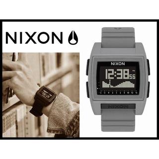 ニクソン(NIXON)の新品 ニクソン ベースタイドプロ グレー A1212-145 デジタル腕時計 ③(腕時計(デジタル))