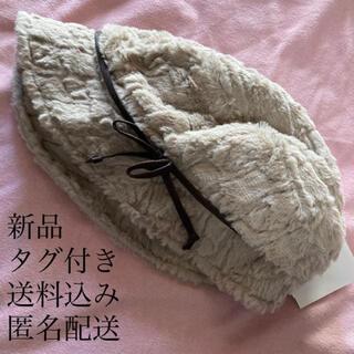 シマムラ(しまむら)の(269) 新品 リボン付き エコファー ハット ベージュ(ハット)