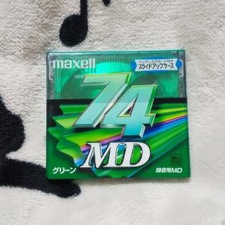 マクセル(maxell)のMDディスク 録音用 MD 74分 ミニディスク 日本製 マクセル グリーン(その他)