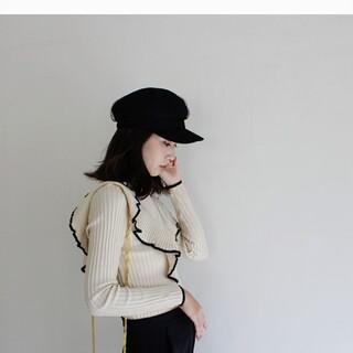 ミラオーウェン(Mila Owen)の【MODEROBE】今季チュールレースキャスケット(キャスケット)