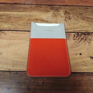 フルラ(Furla)のFURLA iPhoneSE ケース 美品 レッド ベージュ(iPhoneケース)