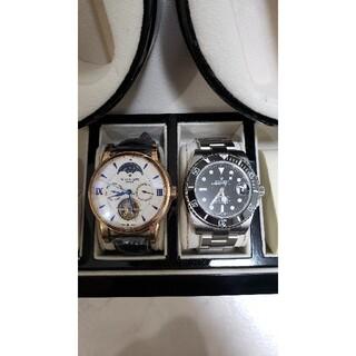 パテックフィリップ(PATEK PHILIPPE)のワインディングマシーンと時計2個付き(腕時計(アナログ))
