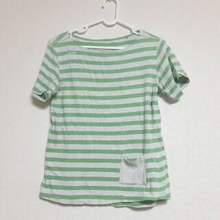 マムート(Mammut)のMAMMUT マムート Tシャツ ボーダー  グリーン 緑 レディース(Tシャツ(半袖/袖なし))