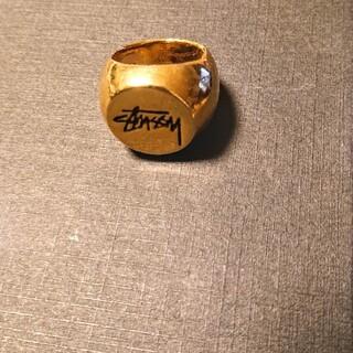 ステューシー(STUSSY)の送料無料。STUSSY  ゴールド  指輪  リング     L/XL(リング(指輪))