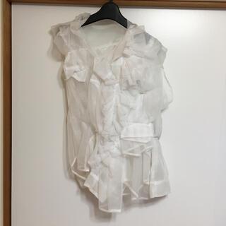 コムデギャルソン(COMME des GARCONS)のCOMMEdesGARCONS 個性的フリル シャツ(シャツ/ブラウス(半袖/袖なし))