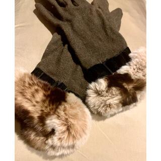 ランバン(LANVIN)のランバン♡ラビットファー手袋(手袋)
