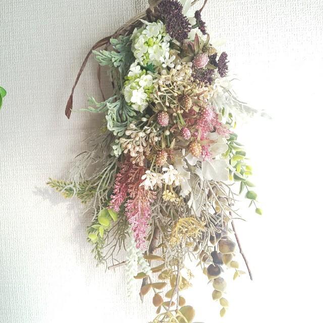 *専用*コデマリ&ミニベリー  フェイクスワッグ ハンドメイドのフラワー/ガーデン(その他)の商品写真