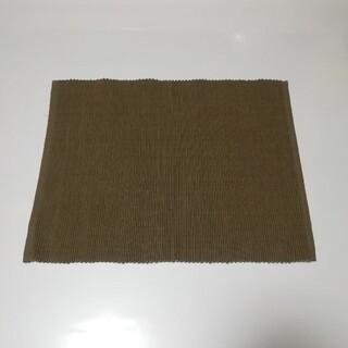 ムジルシリョウヒン(MUJI (無印良品))の無印 ランチョンマット ブラウン コットン100% シンプル 無印良品(テーブル用品)