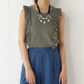 スライ(SLY)の2015 スライ フリル タンクトップ(Tシャツ(半袖/袖なし))