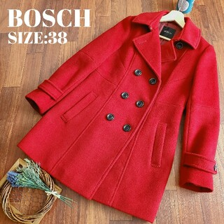 ボッシュ(BOSCH)のボッシュ BOSCH 赤 ピーコート ウールコート(ピーコート)
