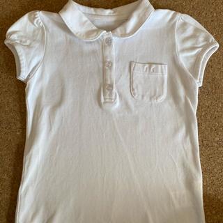 ベルメゾン(ベルメゾン)の白 丸襟ポロシャツ 120cm (ブラウス)