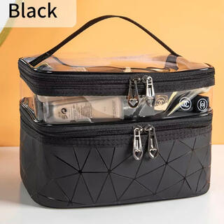 ブラック 大容量メイクボックス(メイクボックス)