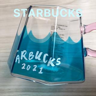 スターバックスコーヒー(Starbucks Coffee)のスターバックス グラスマグ富士山355ml スタバ グラス 新品(グラス/カップ)