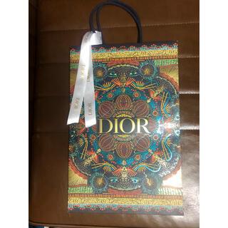 ディオール(Dior)のDior 紙袋 ショッパー クリスマス 2020 リボン 付き(ショップ袋)