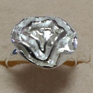 海外 14号 シルバー 薔薇の花 リング(リング(指輪))