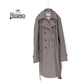 ヘルノ(HERNO)の大きいサイズ◎HERNO ヘルノ 薄中綿入りトレンチコート(トレンチコート)