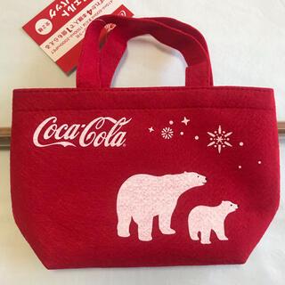 コカコーラ(コカ・コーラ)の【美品&未使用(2個)】コカ・コーラ フェルト トートバック(トートバッグ)