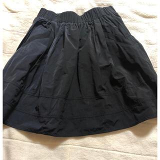 ルカ(LUCA)のLUCA  黒 ミニフレアスカート(ミニスカート)