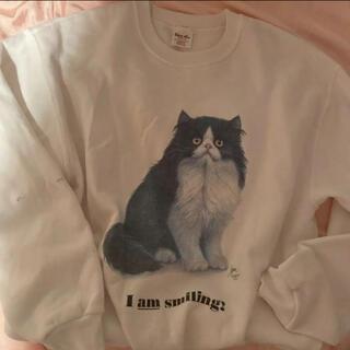ロキエ(Lochie)のusa ヴィンテージ  スウェット猫jantiques hooked toro(スウェット)