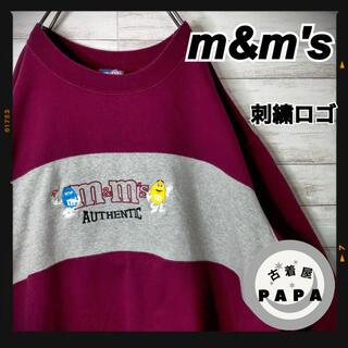 エムアンドエムアンドエムズ(m&m&m's)の【一点モノ!!】M&M's ⚓︎ スウェット 刺繍ロゴ ゆるだぼ VINTAGE(スウェット)