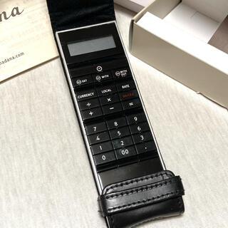 アマダナ 計算機 電卓 レザーケース付き amadana ブラック黒