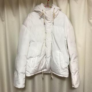暖綿入り♡BUYMA♡パーカーダウンジャケット♡白ホワイト(ダウンジャケット)