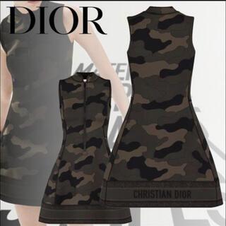 クリスチャンディオール(Christian Dior)のDior 20AW 迷彩ジップドレス(ミニワンピース)
