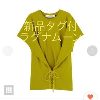 ラグナムーン(LagunaMoon)の新品タグ付ラグナムーンコルセット風トップス(カットソー(半袖/袖なし))