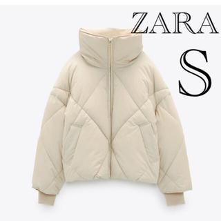 ザラ(ZARA)のタグ付き★ZARA パフジャケット ホワイト(ダウンジャケット)
