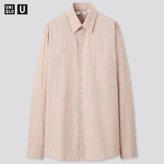ユニクロ(UNIQLO)のユニクロu ブロードストライプシャツ ピンク S ユニクロユー(シャツ)