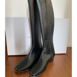 コウベレタス(神戸レタス)のコウベレタス スクエアトゥスリムシルエットロングブーツ (ブーツ)