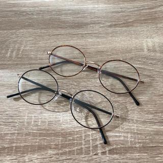 シマムラ(しまむら)の伊達メガネ 丸メガネ しまむら 2点セット(サングラス/メガネ)