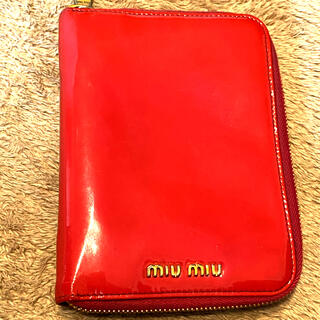 ミュウミュウ(miumiu)のミュウミュウ miumiu ショッキングピンク ミニ6のシステム手帳(その他)
