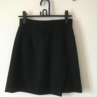 エストネーション(ESTNATION)の【使用頻度少】ESTNATION 膝上 台形 スカート 黒(丈47cm)(ひざ丈スカート)