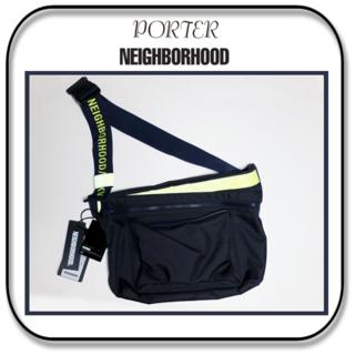 NEIGHBORHOOD - ネイバーフッド xポーター  ナイロン ショルダーバッグ  ネイビー/リフレクト