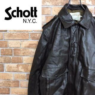 ショット(schott)の【ショット】usa製 schott I.S.674.M.S レザージャケット(レザージャケット)