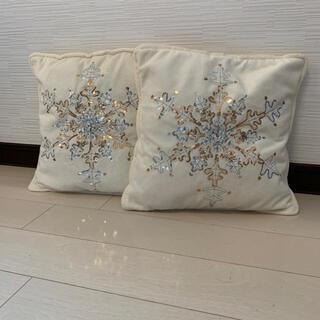 ニトリ(ニトリ)の刺繍クッションカバー 2個セット(クッションカバー)