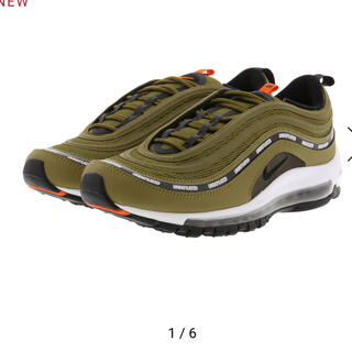 ナイキ(NIKE)のUNDEFEATED x NIKE AIR MAX 97 OLIVE (スニーカー)