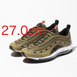ナイキ(NIKE)のUNDEFEATED x NIKE AIR MAX 97 OLIVE 27.0(スニーカー)