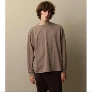 スティーブンアラン(steven alan)の<Steven Alan> LIGHT HI-DENS BORDER ベージュ(Tシャツ/カットソー(七分/長袖))