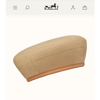 エルメス(Hermes)の2020 エルメス  ベレー帽 ベージュ キャップ 帽子 サントノーレ(ハンチング/ベレー帽)