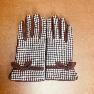 コムサイズム(COMME CA ISM)のコムサ 千鳥柄本革手袋(手袋)